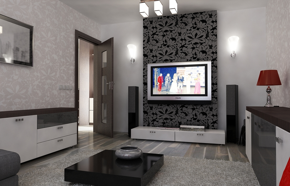 bilder 3d interieur wohnzimmer rot grau 11. Black Bedroom Furniture Sets. Home Design Ideas
