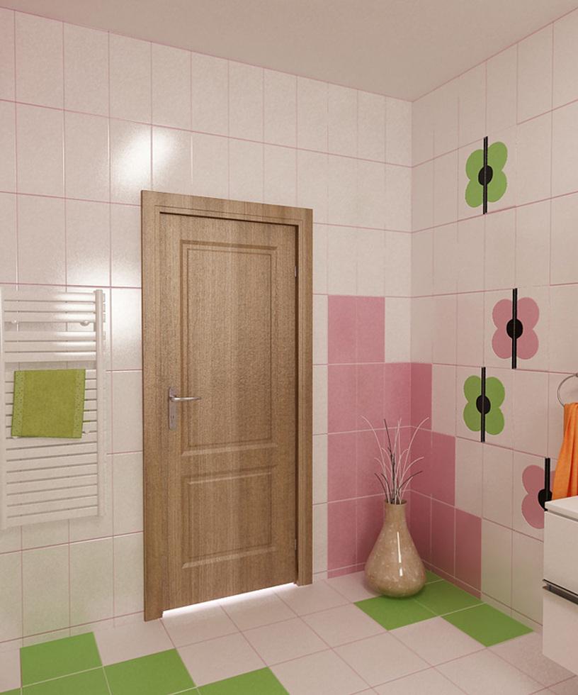 bilder - 3d interieur badezimmer grün-rosa 'ral fete' 7, Hause ideen