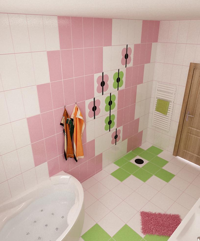 bilder - 3d interieur badezimmer grün-rosa 'ral fete' 3, Hause ideen