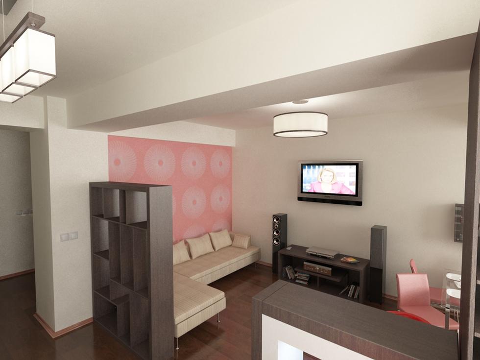 wohnzimmer rosa weiß:Bilder – 3D Interieur Wohnzimmer Weiß-Rosa 'Cartier Penta' 5