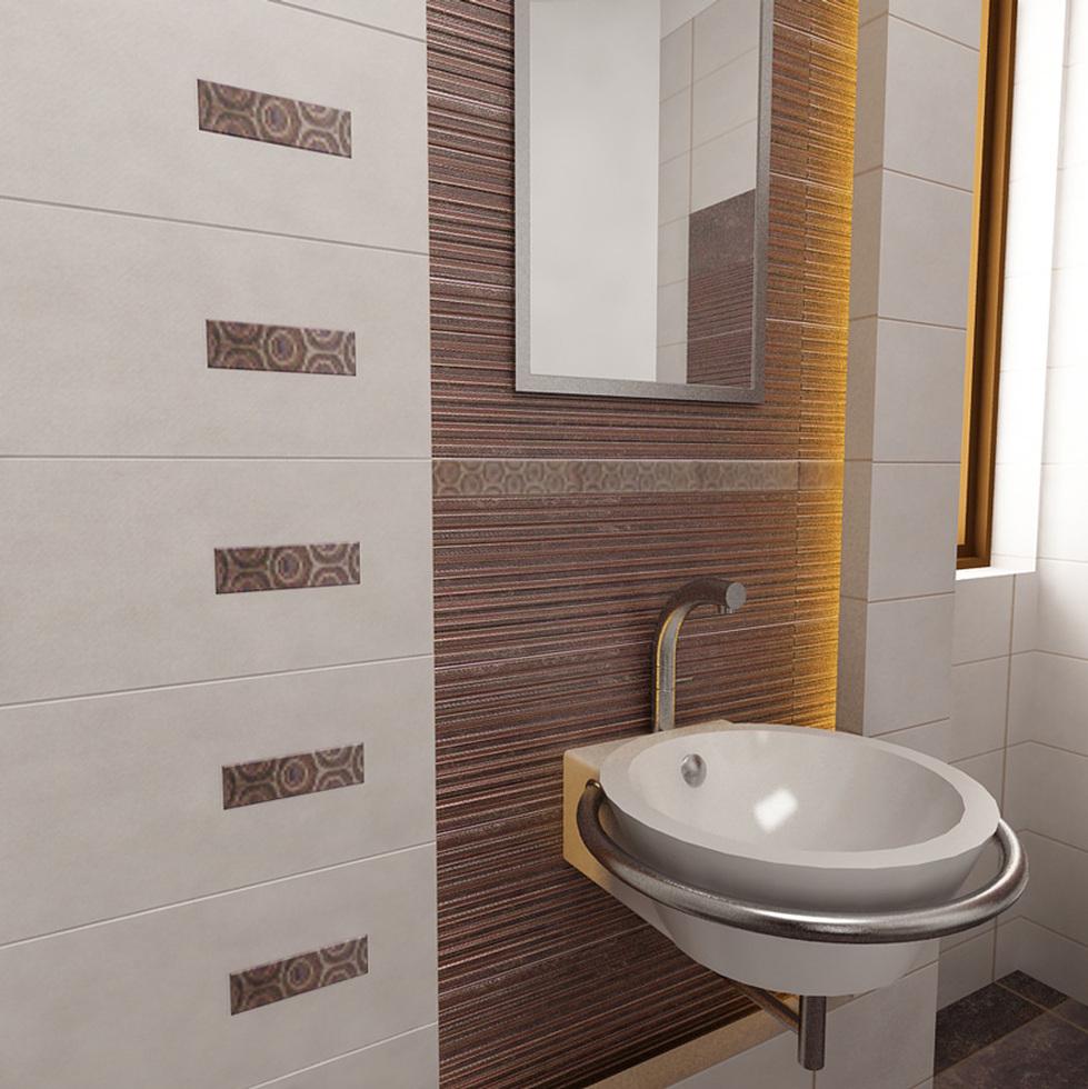 Bilder 3d interieur badezimmer wei braun 39 baie parascanu 39 5 for Badezimmer muster bilder