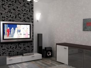 Bilder Graue Tapete Wohnzimmer