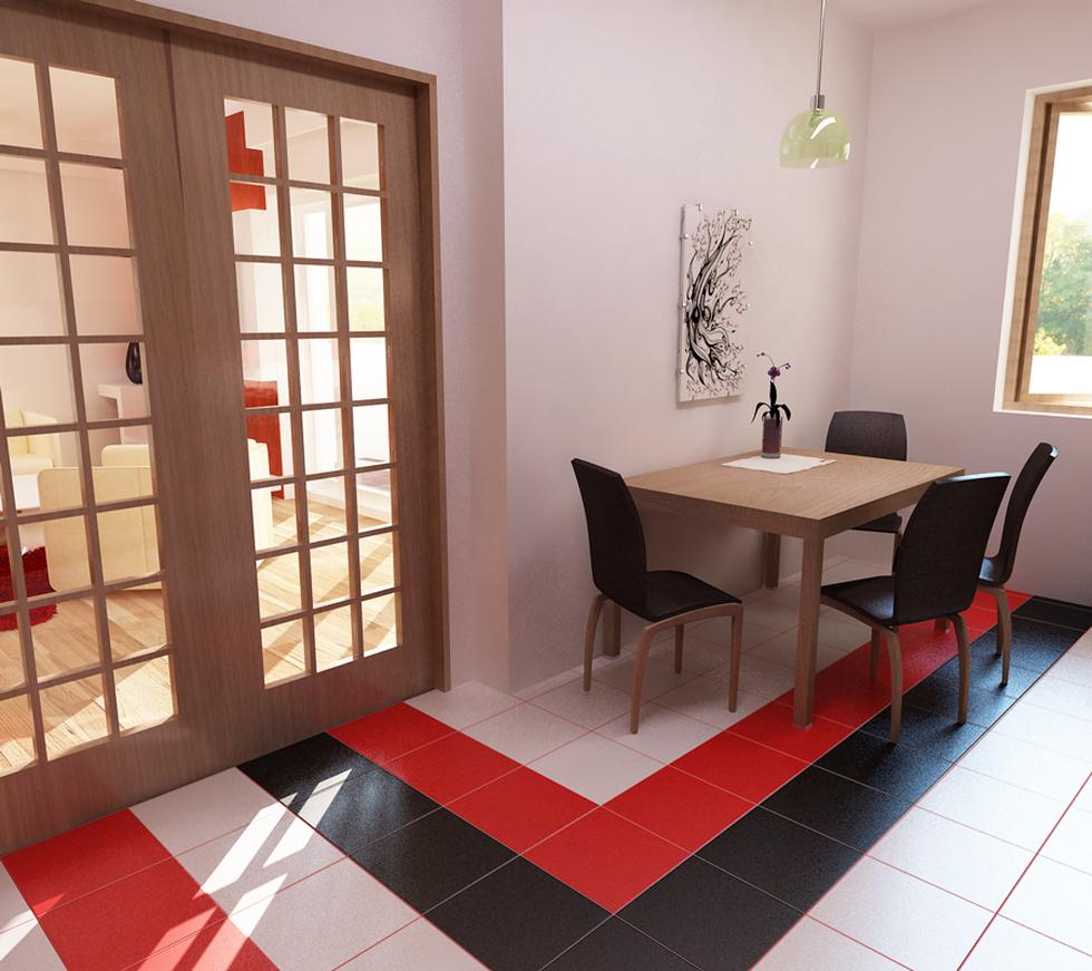 Bilder   3d interieur küche schwarz/weiß beige 'val living buc' 1