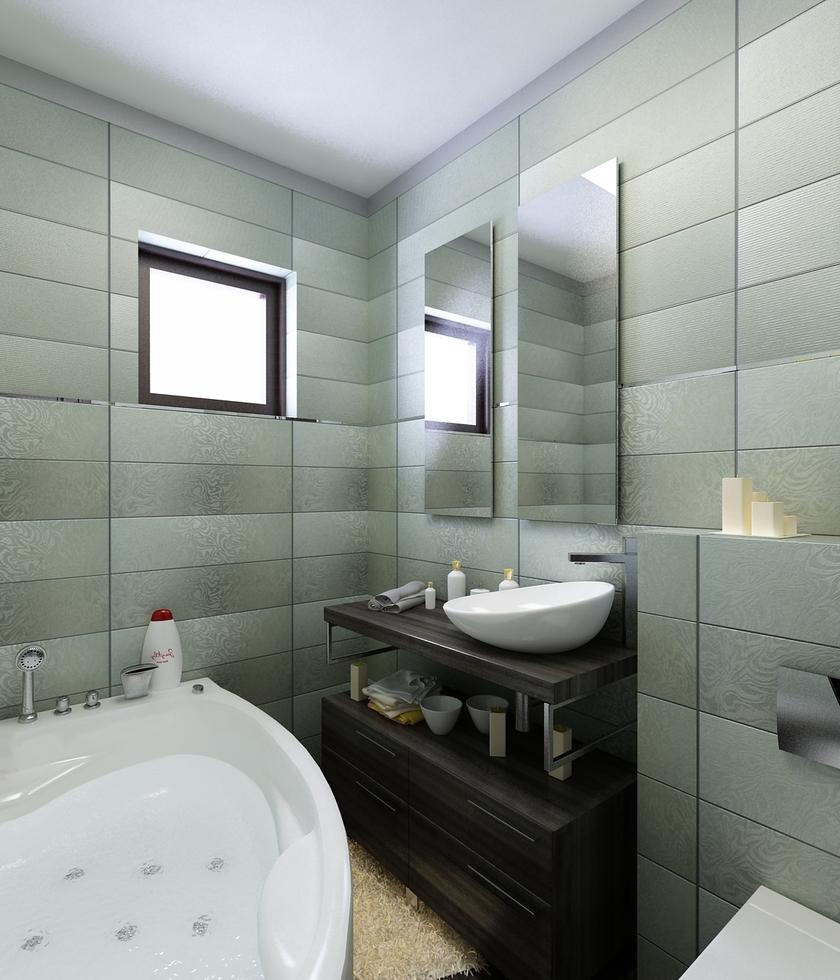 bilder - 3d interieur badezimmer mint-braun 'tween strada' 8, Badezimmer ideen