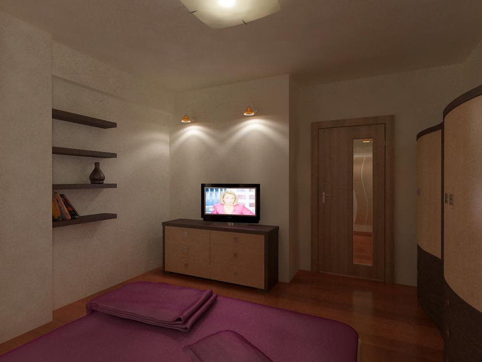 Bilder - 3D Interieur Schlafzimmer Braun-Beige \'Cartier Penta\' 1