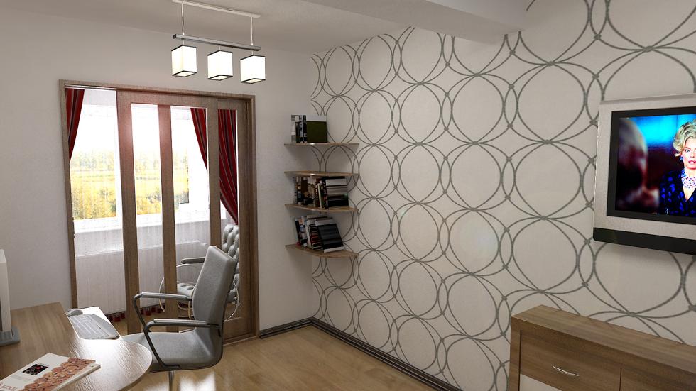 3D Interieur Schlafzimmer Grau Braun 2