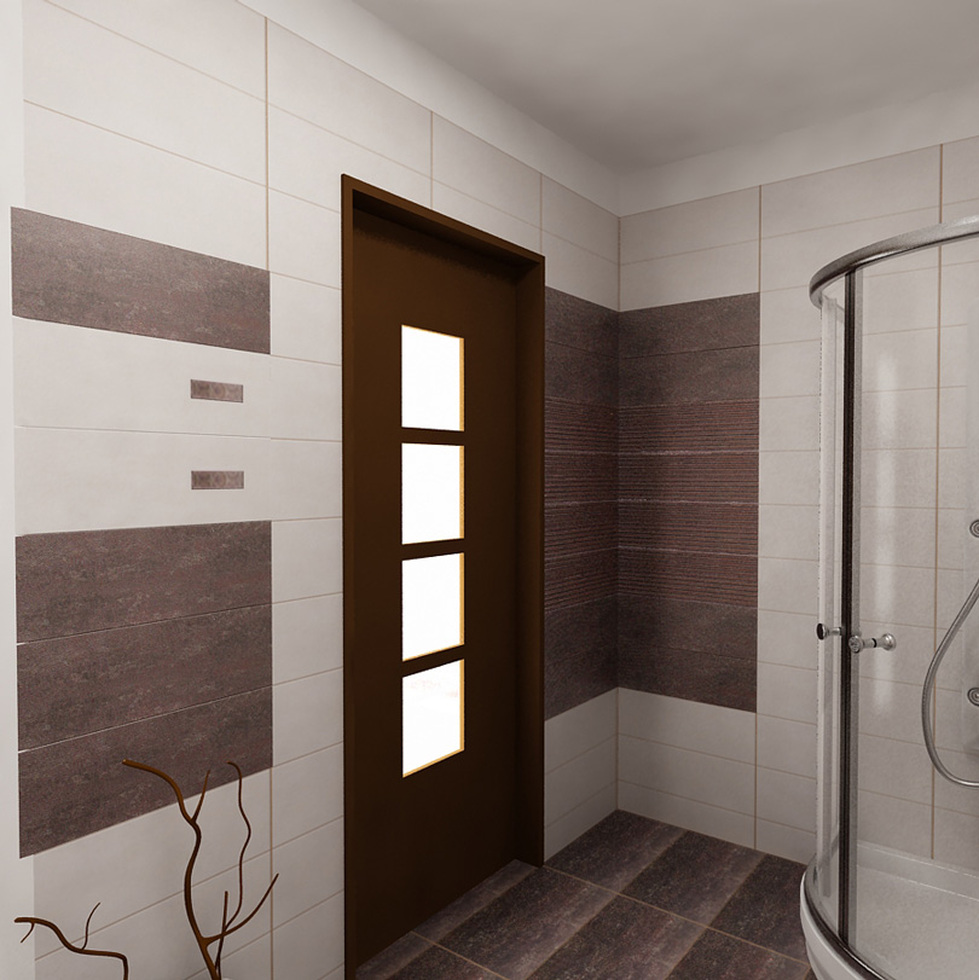Bilder - 3D Interieur Badezimmer Weiß-Braun Baie Parascanu 9