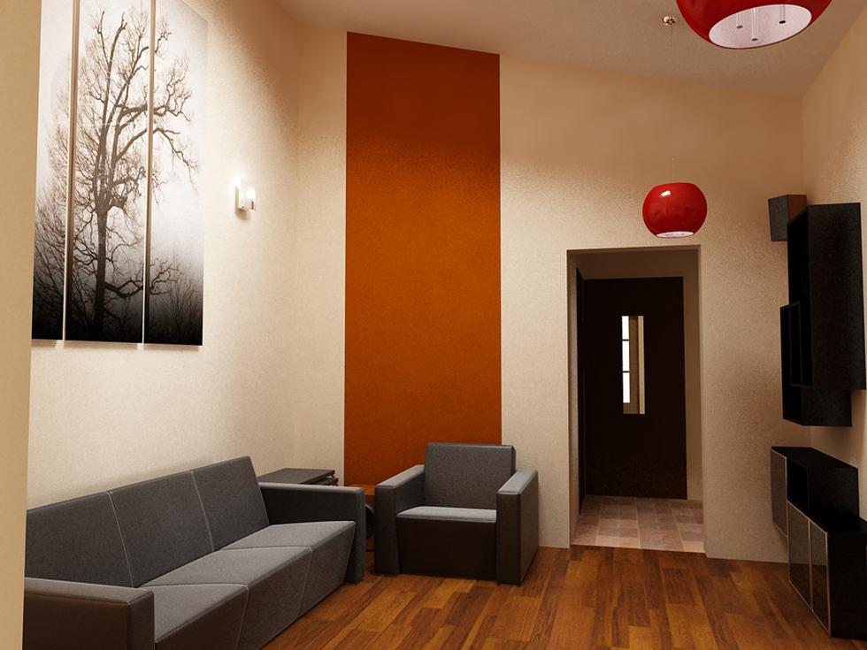 Bilder - 3D Interieur Wohnzimmer Braun-Schwarz 'Casa David' 1