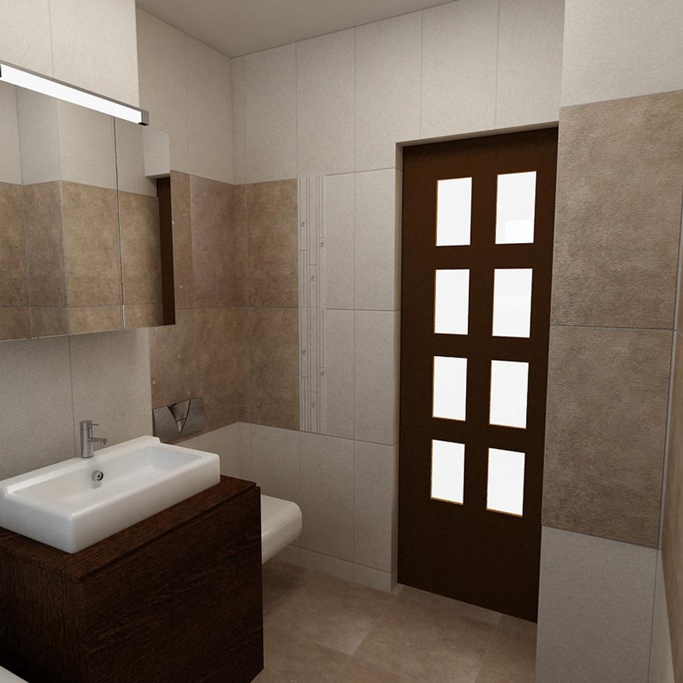 Bilder - 3D Interieur Badezimmer Weiß-Braun \'Baie Simion\' 4