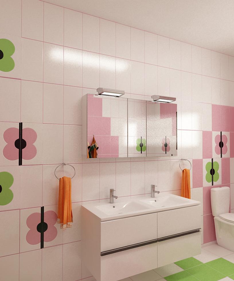 Bilder - 3D Interieur Badezimmer Grün-Rosa \'Ral Fete\' 5