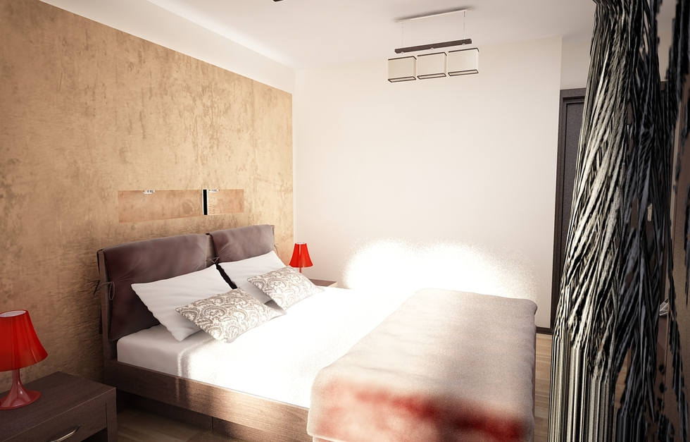 bilder - 3d interieur schlafzimmer beige-weiß 4 - Schlafzimmer Beige Wei