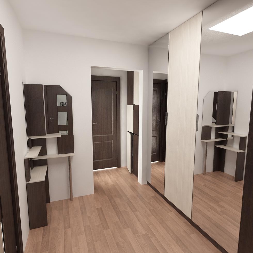3D Interieur Garderobe Braun Weiß 5?