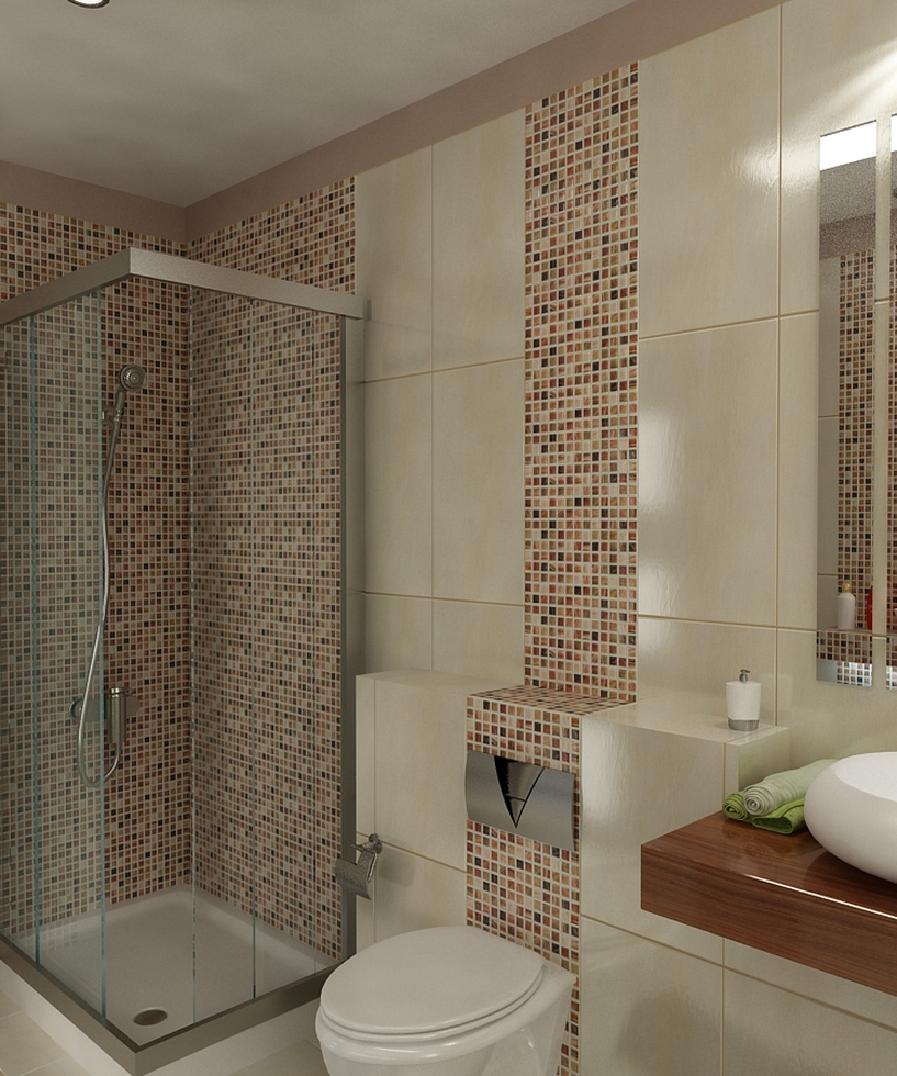 Badezimmer In Braun Beige : Bilder 3D Interieur Badezimmer ...