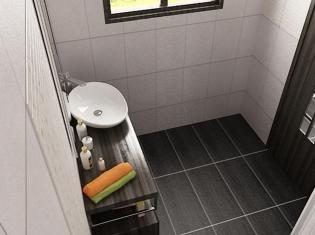 bilder - 3d interieur badezimmer weiß-braun 'alexandra duma' 3, Hause ideen