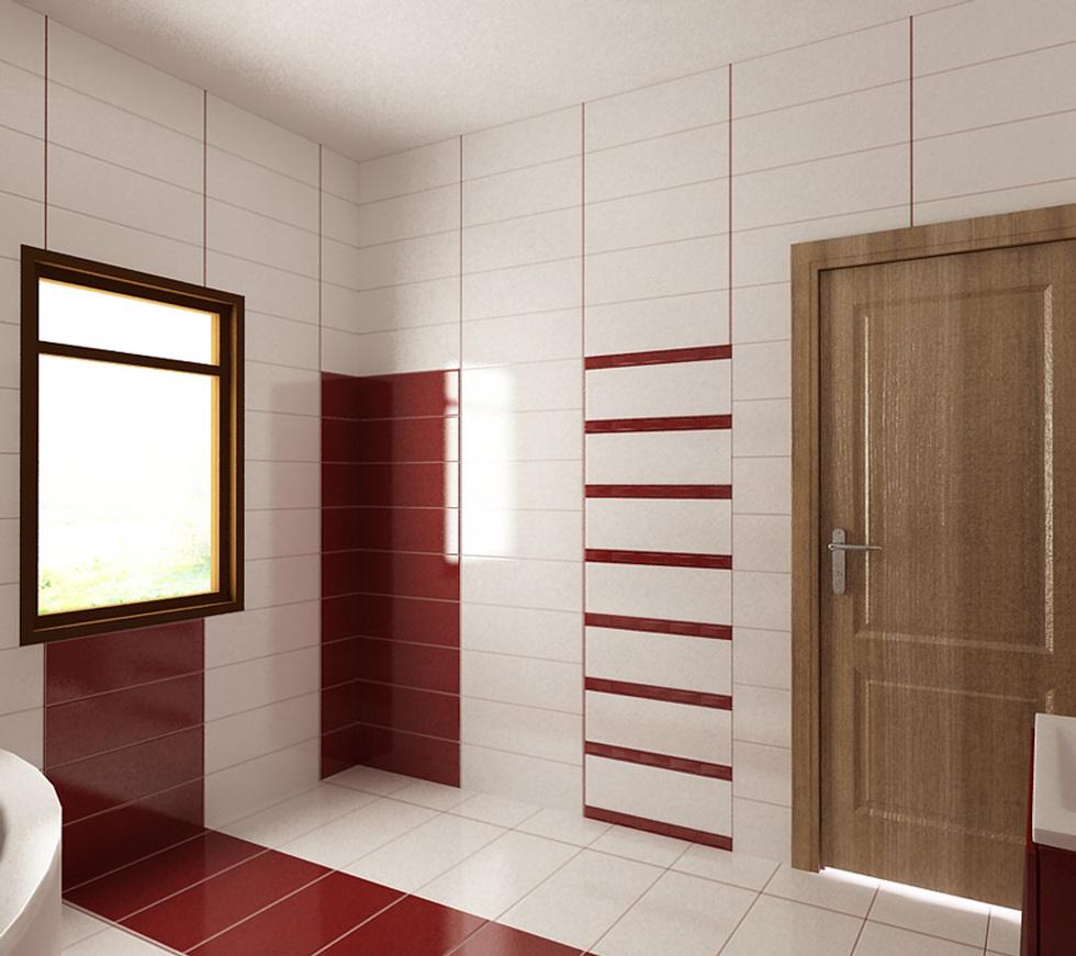 Bilder 3d Interieur Badezimmer Rot Weiss Baie Ral Arnisal 8