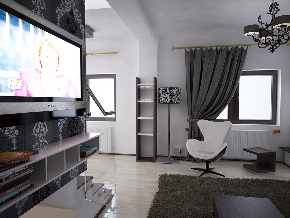 bilder 3d interieur wohnzimmer schwarz wei 39 valea lupului 39 3. Black Bedroom Furniture Sets. Home Design Ideas