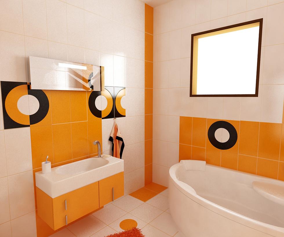 bilder 3d interieur badezimmer orange schwarz 39 baie biosfarm 39 9. Black Bedroom Furniture Sets. Home Design Ideas