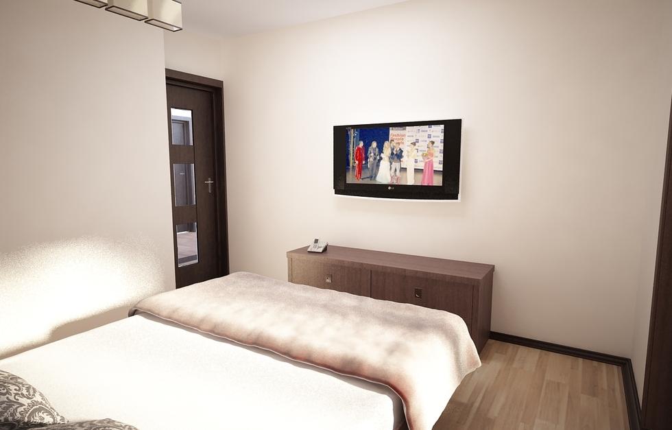 Bilder - 3D Interieur Schlafzimmer Beige-Weiß 2