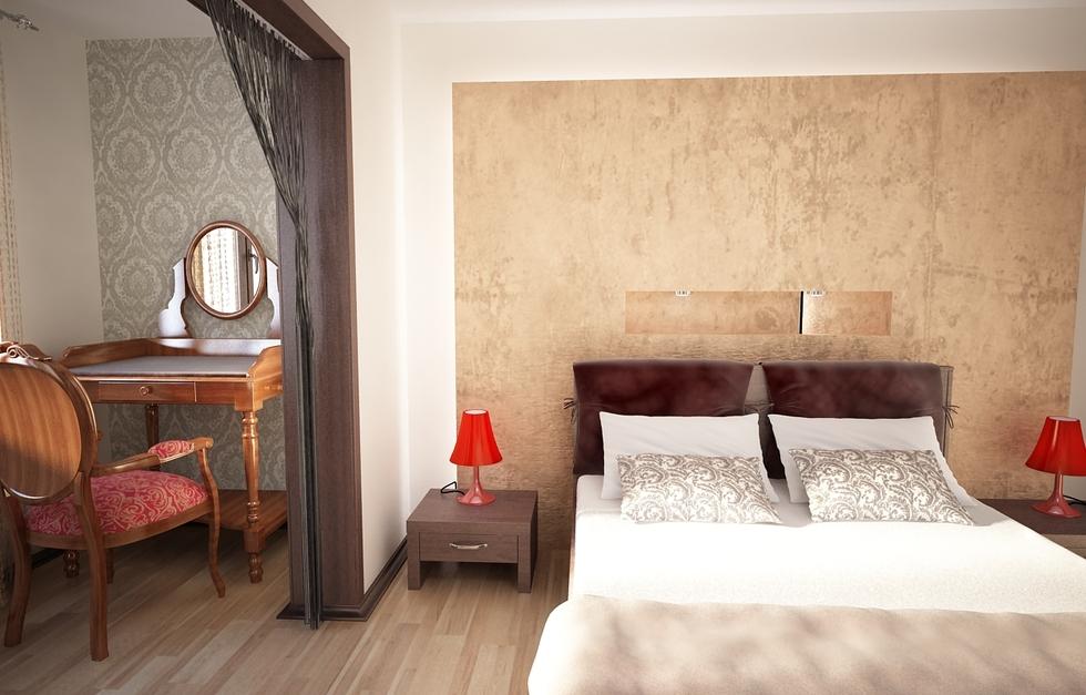 Bilder - 3d Interieur Schlafzimmer Beige-weiß 5 Schlafzimmer Einrichten 3d