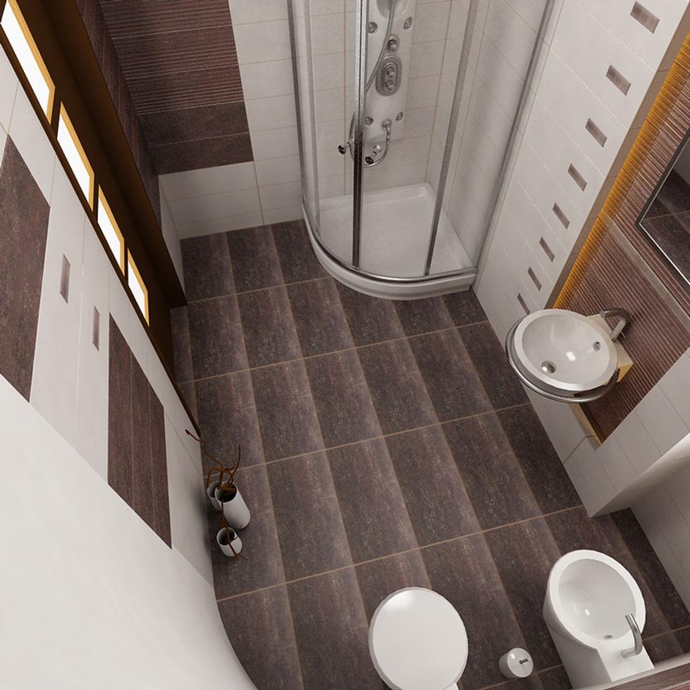 badezimmer braun wei, bilder - 3d interieur badezimmer weiß-braun 'baie parascanu' 3, Design ideen
