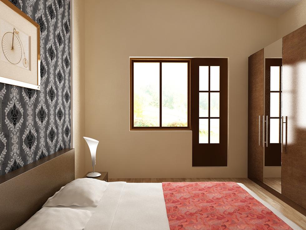 Bilder - 3D Interieur Schlafzimmer Weiß-Beige 'Casa David' 1