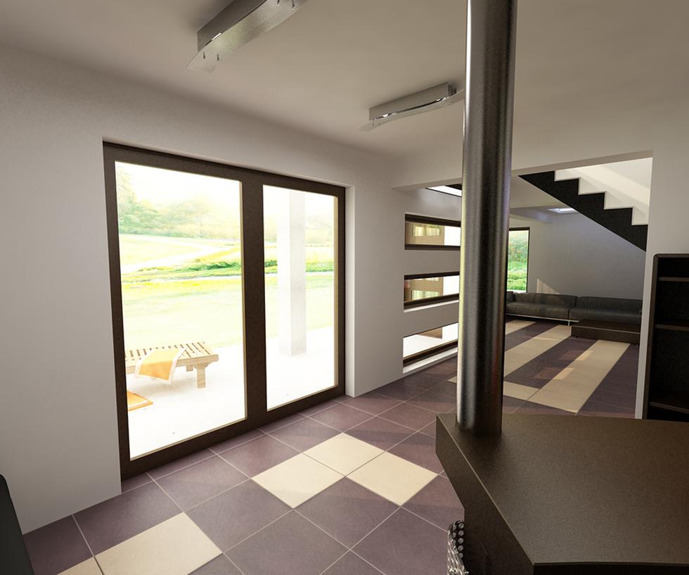 Delightful Hierbei Handelt Es Sich Um Ein Sehr Modernes Wohnzimmer. Aus Diesem  Blickwinkel Sieht Man Weitere Teile Des Raumes Und Kann Durch Die Glastüren  Auf Die ...