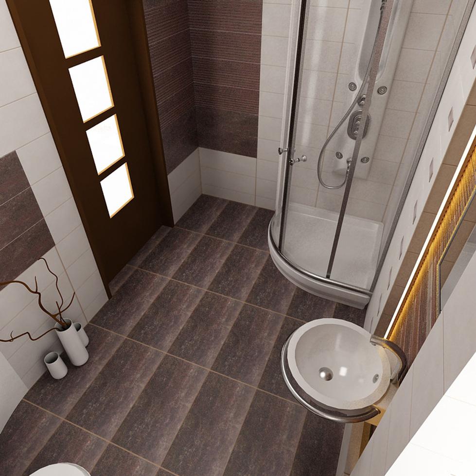 Bilder - 3D Interieur Badezimmer Weiß-Braun Baie Parascanu 2