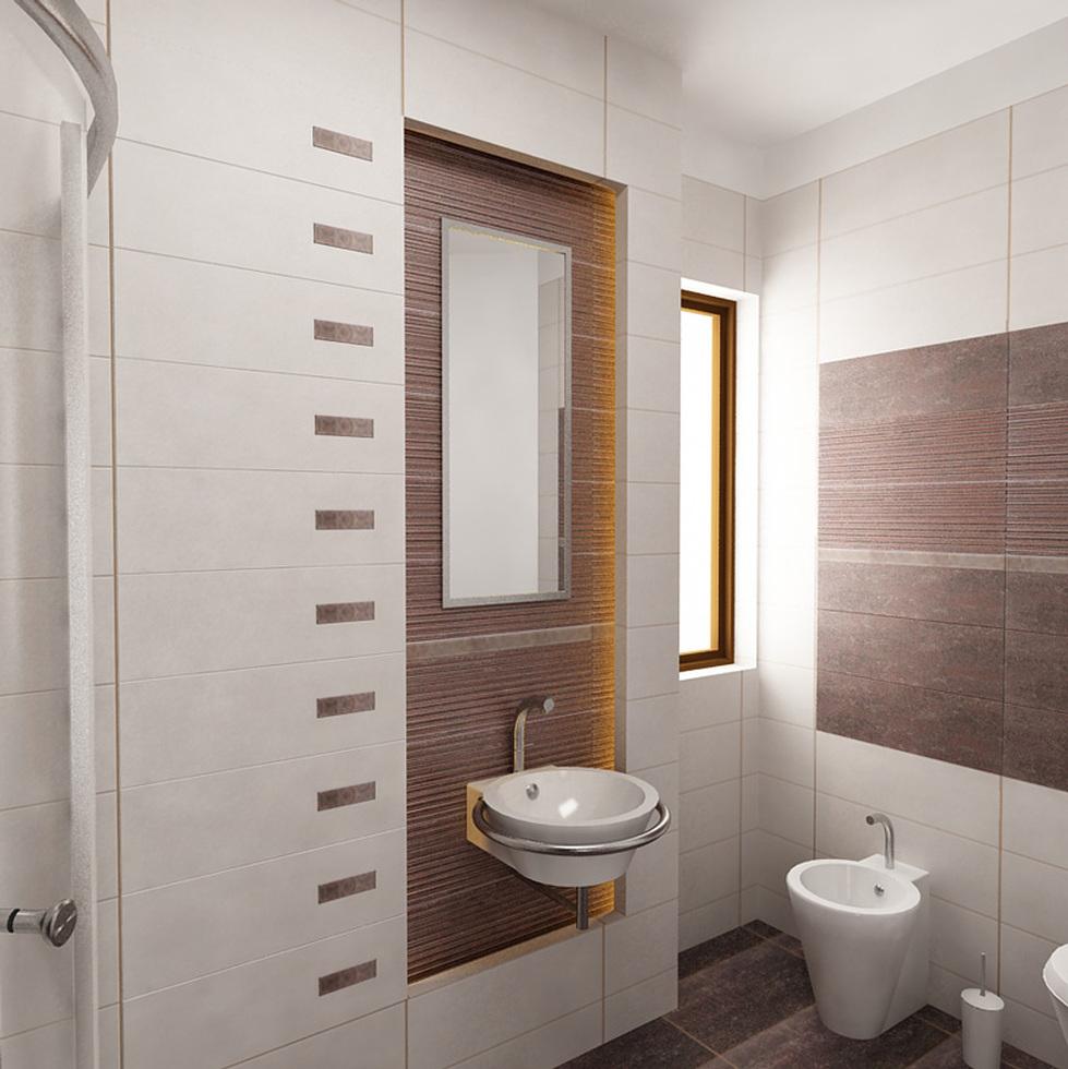Bilder - 3D Interieur Badezimmer Weiß-Braun Baie Parascanu 6