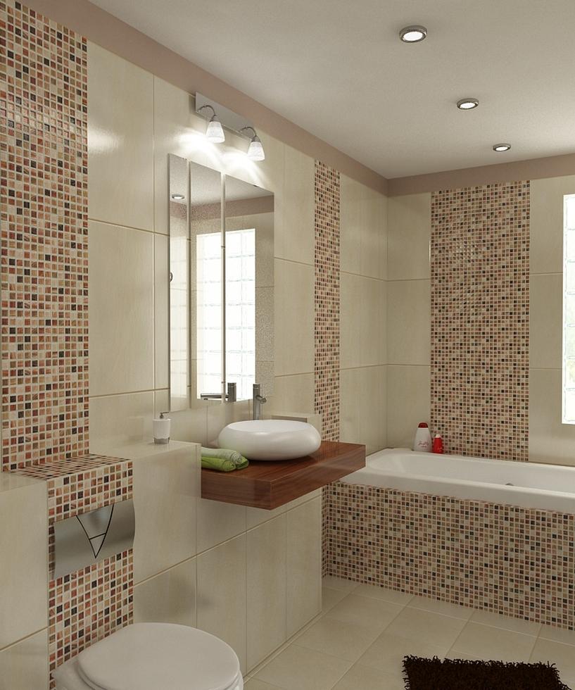 bilder - 3d interieur badezimmer braun-beige-weiß 'baie bucur' 7, Badezimmer ideen