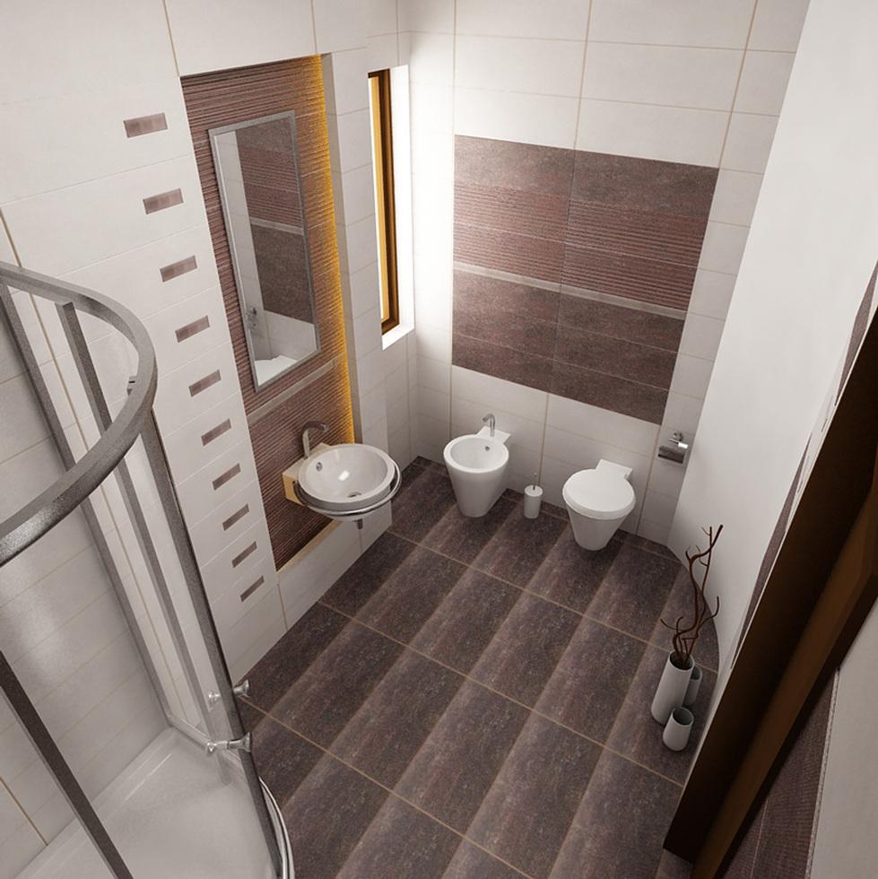 Bilder - 3D Interieur Badezimmer Weiß-Braun \'Baie Parascanu\' 4