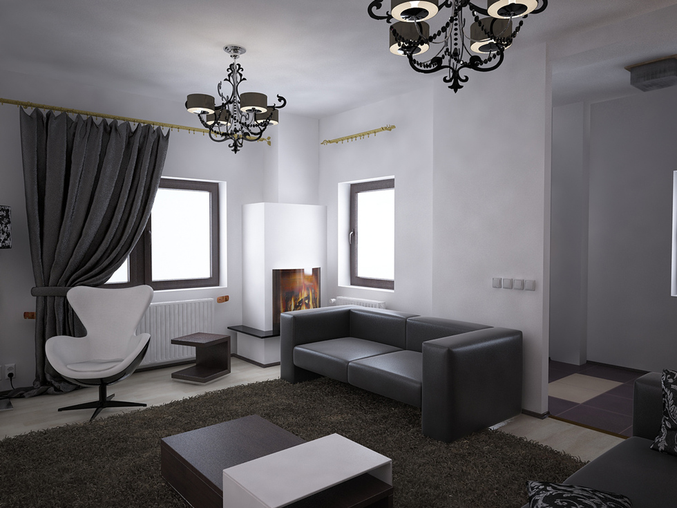 bilder 3d interieur wohnzimmer schwarz wei 39 valea lupului 39 2. Black Bedroom Furniture Sets. Home Design Ideas