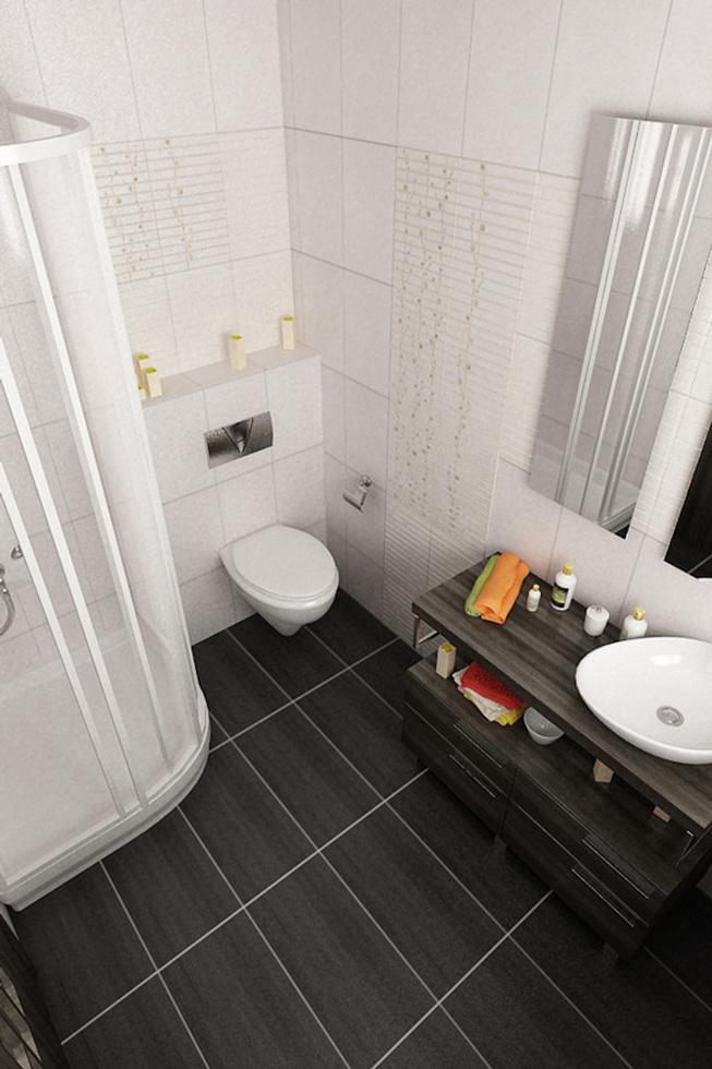 Bilder - 3D Interieur Badezimmer Weiß-Braun Alexandra Duma 4