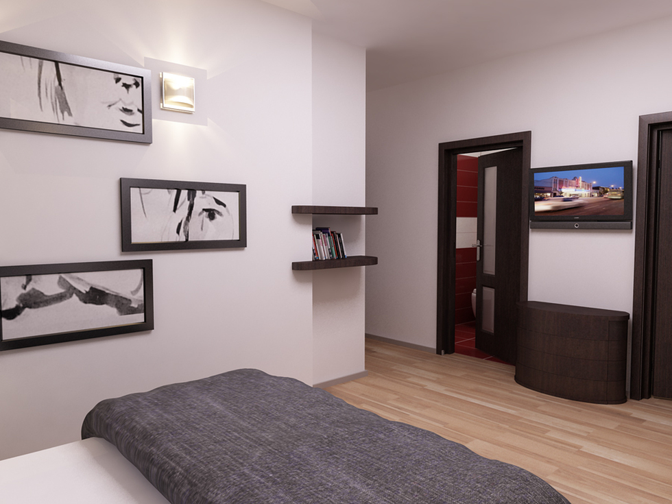 Bilder 3d Interieur Schlafzimmer Schwarz Weiß Val Cam Ref 1