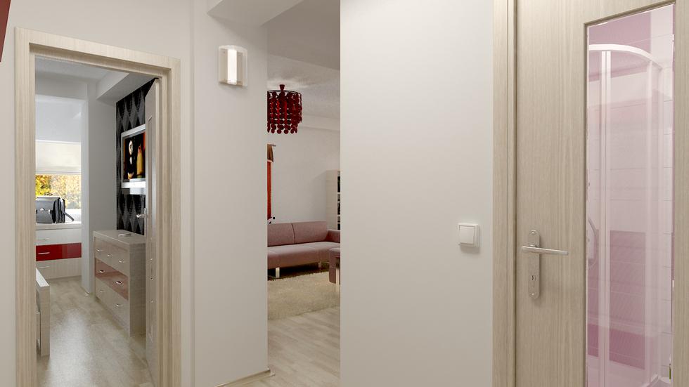 wohnzimmer beige rot:Bilder – 3D Interieur Wohnzimmer Rot-Beige 5