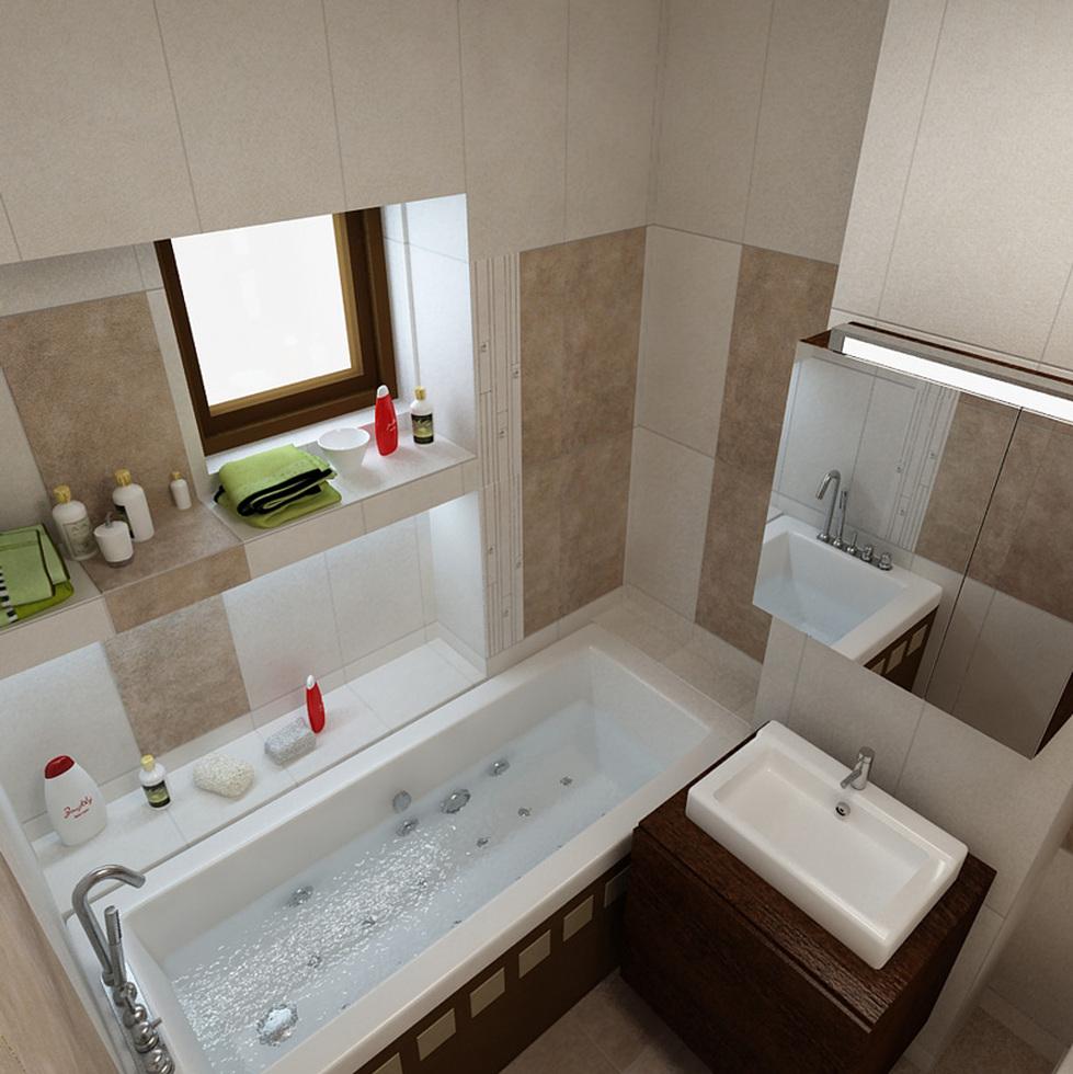 bilder - 3d interieur badezimmer weiß-braun 'baie simion' 3, Badezimmer ideen