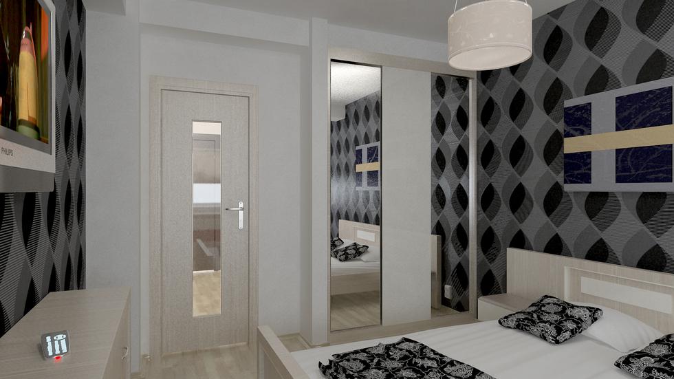 Bilder 3d Interieur Schlafzimmer Schwarz Weiss 1
