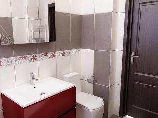 Bilder - 3d Interieur Badezimmer Rot-grau 'baie Damasco' 6 Badezimmer Grau Rot