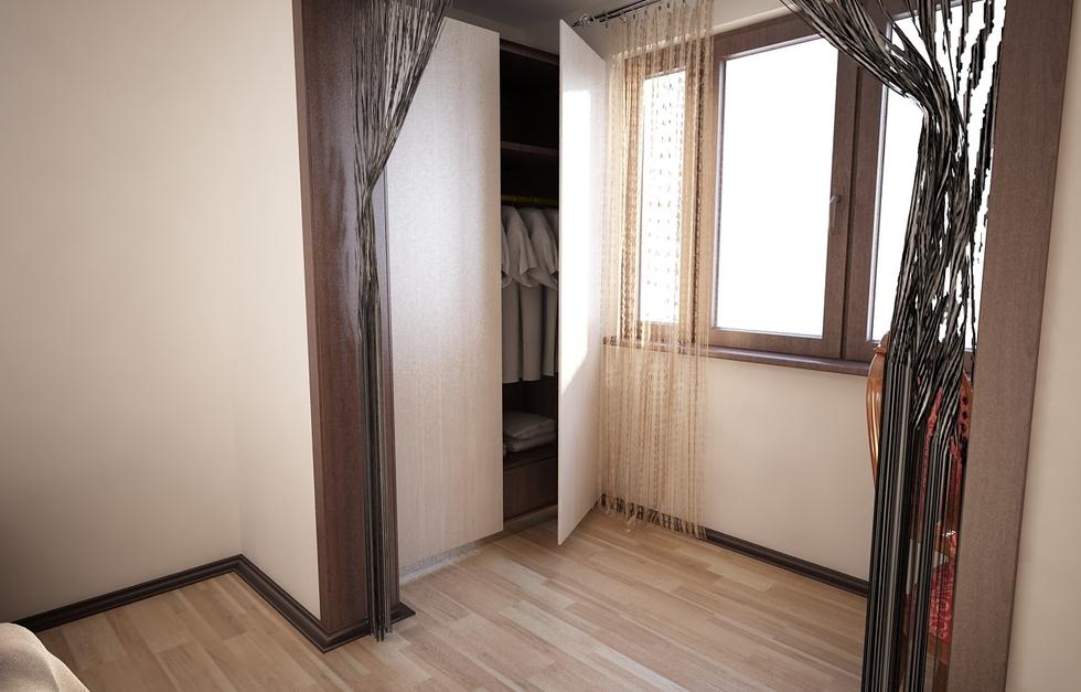 Bilder - 3D Interieur Schlafzimmer Beige-Weiß 3